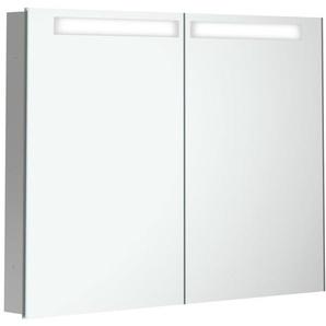 Villeroy & Boch My View In Armoire de toilette à encastrer 80.1x74.7x10.7cm avec éclairage LED intensité réglable à 3 étapes avec 2 portes a4358000