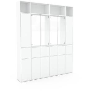 Vitrine - Blanc, moderne, pour documents, avec porte Blanc - 229 x 272 x 35 cm, personnalisable