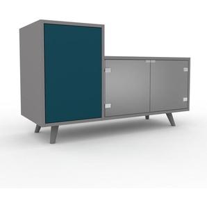 Vitrine - Verre clair dépoli, moderne, pour documents, avec porte Verre clair dépoli - 116 x 72 x 47 cm, personnalisable