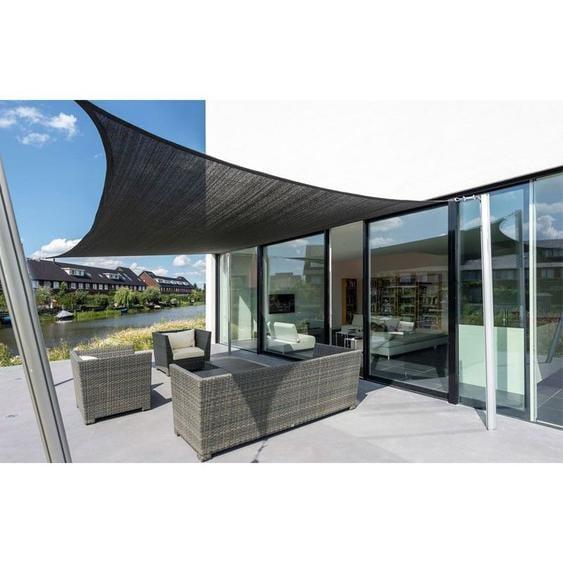 Voile dombrage carrée résistante au vent - haute densité de 280g/m2-Beige-4 x 4 m - Beige - SUNNY INCH ®