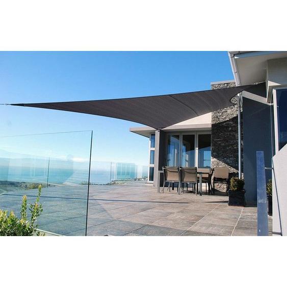 Voile dombrage trapèze résistante au vent - haute densité de 280g/m2-Gris-3 x 4 x 4 x 5 m - Gris - SUNNY INCH ®