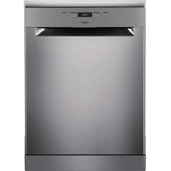 Lave-vaisselle pose libre WHIRLPOOL OWFC3C26X - 14 couverts - Moteur induction - Largeur 60 cm - Classe A++ - 46 dB - Inox/silver