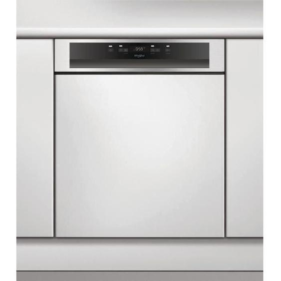 WHIRLPOOL -WBC3C26PX - lave-vaisselle intégrable - 14 couverts - 46dB 9L A++ Inox