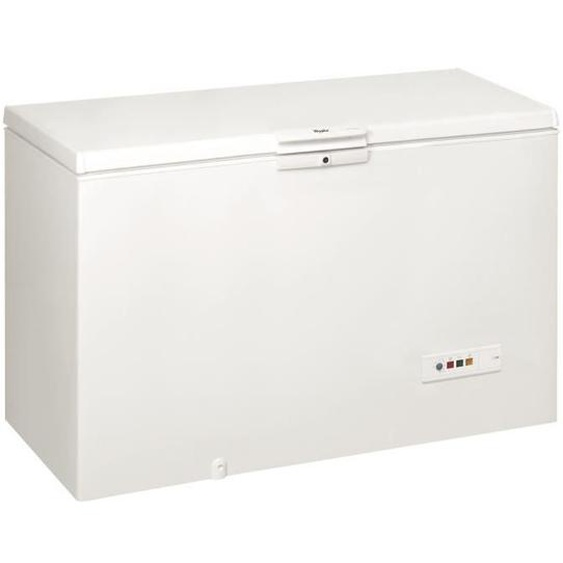 WHIRLPOOL WHM39111 - Congélateur coffre - 390L - Froid statique - A+ - L 140,5 x H 91,6 cm - Blanc
