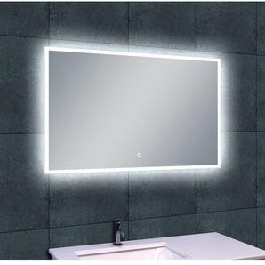 Wiesbaden Quatro Miroir avec éclairage LED 100x60cm avec intérrupteur et protection contre leau en pluie aluminium 38.4113