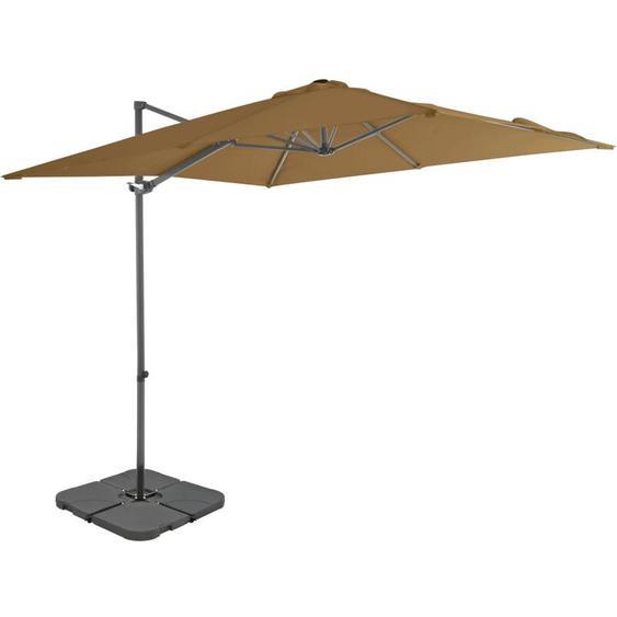 Youthup - Parasol avec base portable Taupe