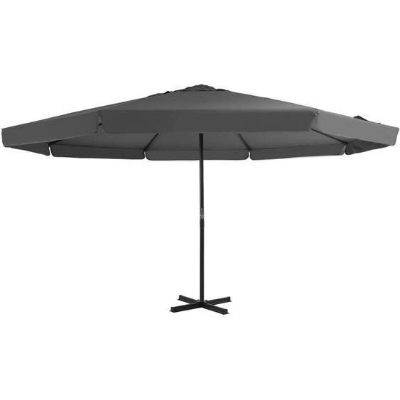 Youthup - Parasol avec mat en aluminium 500 cm Anthracite