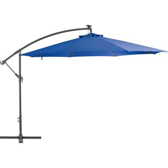 Youthup - Parasol déporté avec mât en aluminium 350 cm Bleu