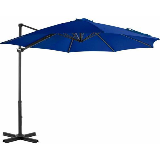 Youthup - Parasol déporté avec mât en aluminium Bleu azuré 300 cm