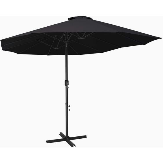 Youthup - Parasol dextérieur et poteau en aluminium 460 x 270 cm Noir