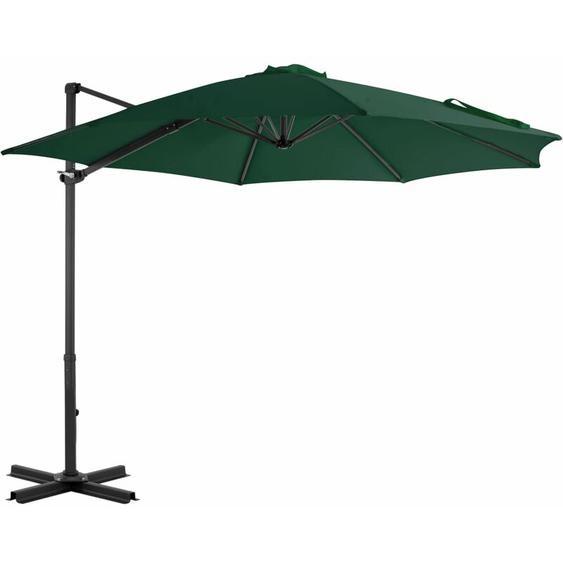 Youthup - Parasol en porte-à-faux et poteau en aluminium 300 cm Vert