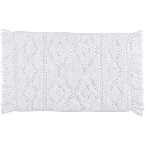 ZAHRA Tapis blanc Larg. 50 x Long. 80 cm